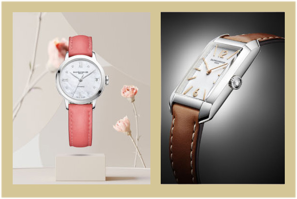 THE FEMALE LOOK OF THE HAMPTON AND CLASSIMA COLLECTIONS BY BAUME & MERCIER